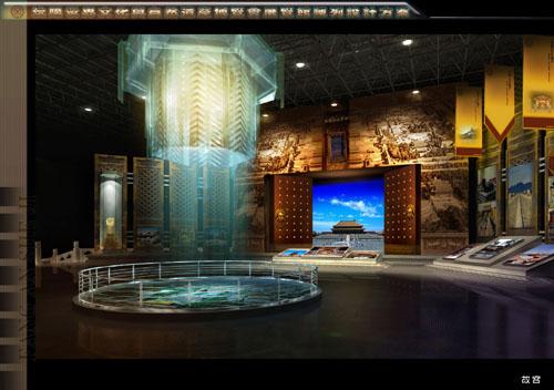 馆北京故宫平面效果图-2007世界文化与自然遗产博览会将在沈阳举行